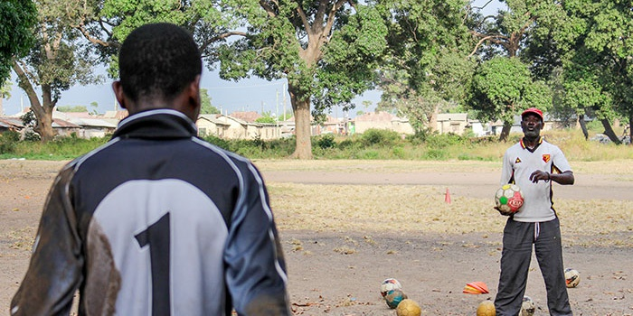 Football coaching with Glad's House in Kenya